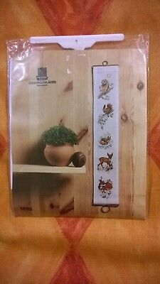 Cross Stitch Kit Bell Pull Woodland Theme Approx 7 cm x 40 cm