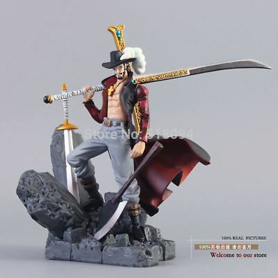 New One Piece Dracule Mihawk 15cm Action Figure Anime Collection Toy Gift Box