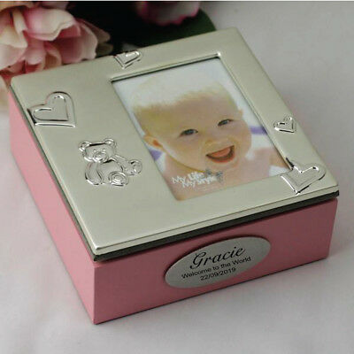 Personalised Baby Girl Trinket Box - Add a Name & Message