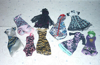 Assorted Monster High Doll Clothes x 9 Pieces for Play