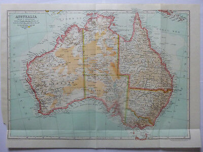 Vintage Map of Australia 1926 - Coloured Map - Excellent Cond. - Great to Frame