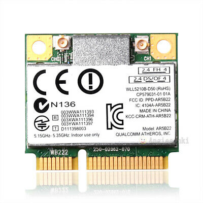Atheros AR9462 AR5B22 Mini PCI-E 802.11N WIFI WLAN CARD Bluetooth 4.0 2.4 & 5Ghz