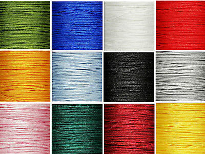 2mm Satin Rattail Trim Pure Color Macrame Beading Nylon Necklace DIY String Cord