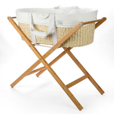 NEW Born with Style Moses Basket With Stand