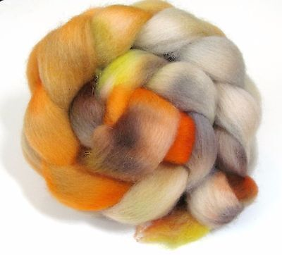 Hand Dyed Roving Combed Wool Top Whitefaced Woodland 100g WW34 Felting Spinning