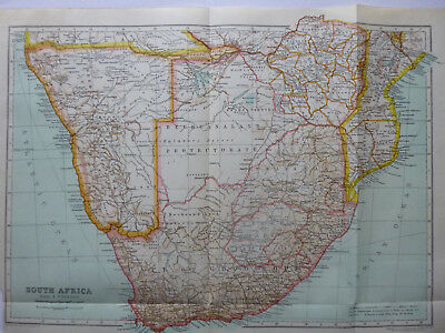 Vintage Map of South Africa 1926 - Coloured - Excellent Cond. - Great to Frame