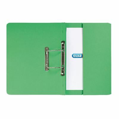 Elba Strongline Foolscap Green Spring Pocket File Pack of 25 [GX30114]