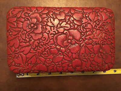 Vintage Red Cinnabar? Trinket Box - See Tag/Marking On Back- Lacquered