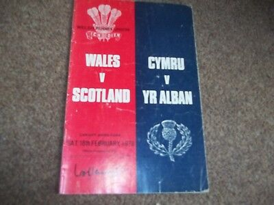Wales V Scotland @ Cardiff Arms Park 18Th February 1978