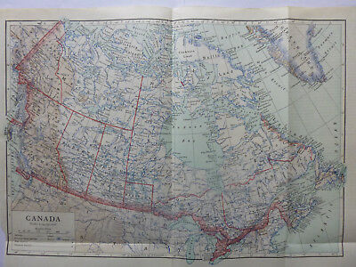 Vintage Map of Canada 1926 - Coloured Map - Excellent Condition - Great to Frame