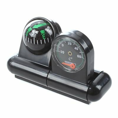 Black Auto Navigation Compass Ball with Thermometer -20℃ to +60℃ M2A4