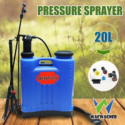 WACWAGNER 20L Pressure Backpack Sprayer Water Garden Farm Pump Spray Weed Killer