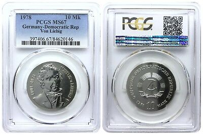 10 Mark 1978 Von Liebig Democratic Republic East Germany Pcgs Ms67