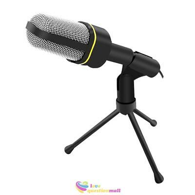 Stereo Microphone Mic Desktop Podcast for Laptop PC Computer Studio Skype 3.5mm
