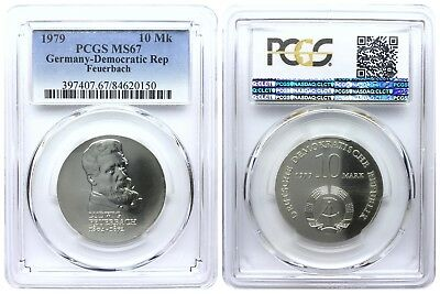 10 Mark 1979 Feuerbach Democratic Republic East Germany Pcgs Ms67
