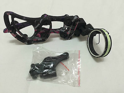 1PK TP9510-pink camo compound bow sights for hunting 1pin bow sight,Quick adjust