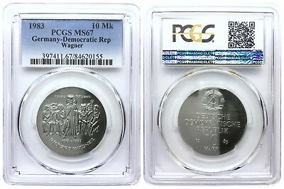 10 Mark 1983 Wagner Democratic Republic East Germany Pcgs Ms67
