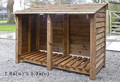 Wood Log Stores. Pressure treated, fully assembled. Custom sizes available