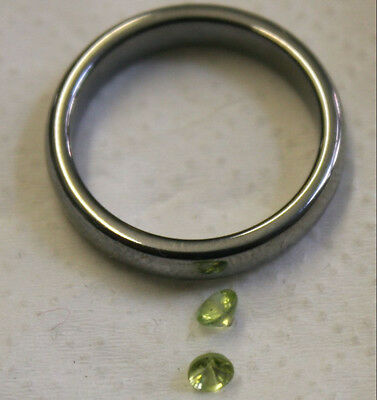 2 X Natural Gemstones Faceted Round 3Mm Peridot A Pair 0.4Ct Total Gem Pe03