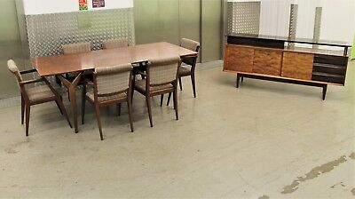 HEALS DINING SUITE TABLE 6 CHAIRS & SIDEBOARD VINTAGE RETRO MID CENTURY 50s 60s