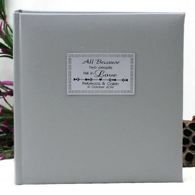 Personalised Wedding Photo Album - 200 - Silver - Add a Name & Message