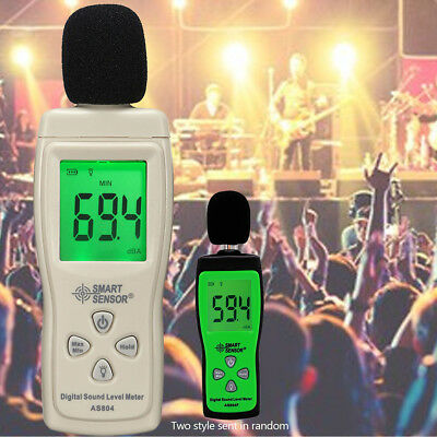 LCD Backlight Digital Sound Level Tester Noise Decibel Measuring Meter 30~130dB
