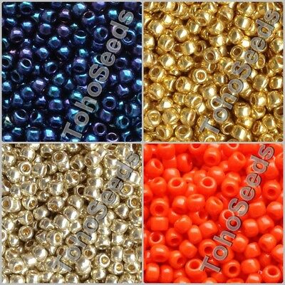 10g Toho Seed Beads size 8/0 Japanese Big 3mm Round Glass Rocaille 105 COLOR