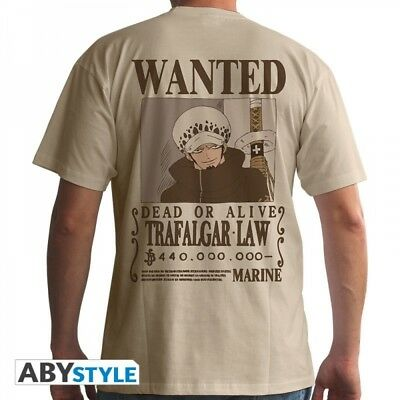"One Piece T-Shirt ""Wanted Trafalgar Law - beige"""