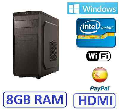 PC Ordenador Sobremesa VUELTA AL COLE intel 8gb ram, wifi, windows, HDMI WINDOWS