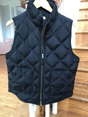 J.crew Women's Quilted Down Filled Puffer Vest Black Size L