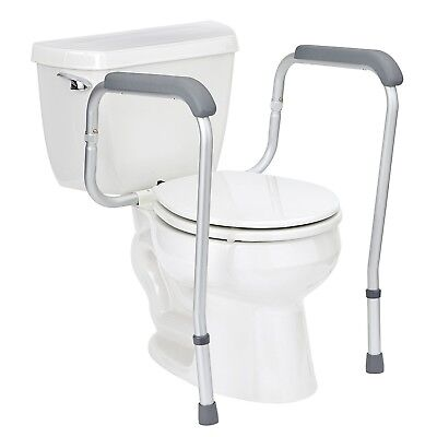 Toilet surround frame mobility support safety rail help to stand adjustable demo