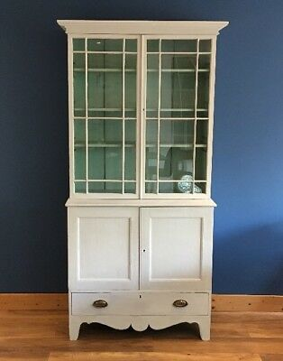 Antique Painted Pine Book Case