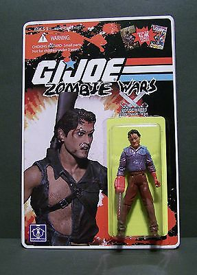 """Custom GI Joe figure and package of """"Zombie Wars"""" ASH from army of darkness"""