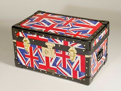 Union Jack cloth, Traditional Mossman Tuck Box Storage Trunk **Discontinued**