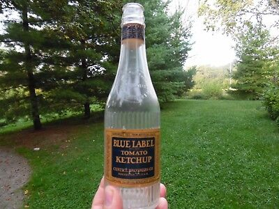 Blue Label Tomato Ketchup Curtice Brothers Rochester N.Y. Labeled Ketchup
