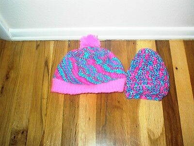 Crocheted Multicolor  Cap And Beenie Handmade New!!