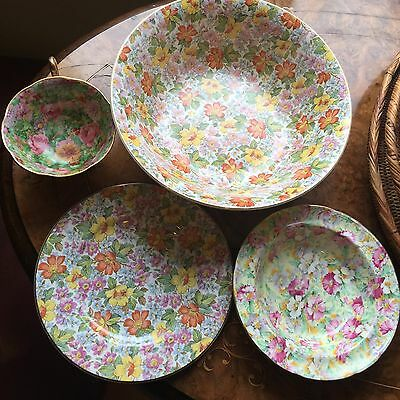 Lovely Group Of Chintz Pottery Pieces