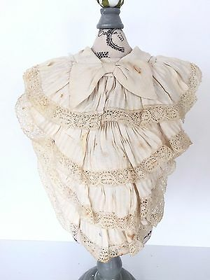 Antique VICTORIAN Lace Trim Bow Collar ~ Gorgeous