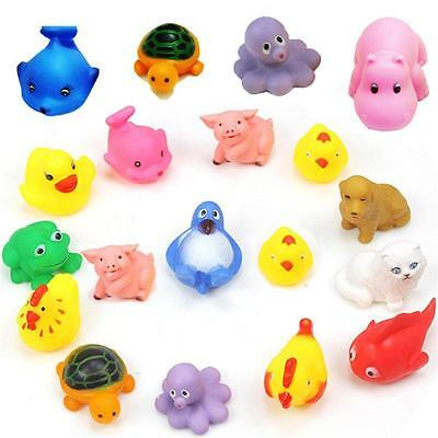 2017 Cute Soft Rubber Float Sqeeze Sound Baby Wash Bath Play Animals Toys new A◁