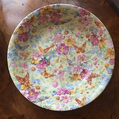 Wade Heath Chintz Bowl, Flowers And Butterflies