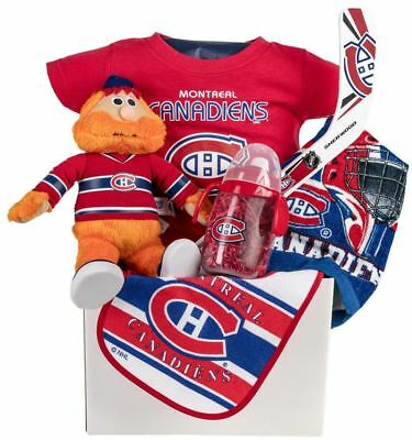 Montreal Canadian's Hab's Baby Gift Basket with Sippy Cup, T-Shirt & Essentials