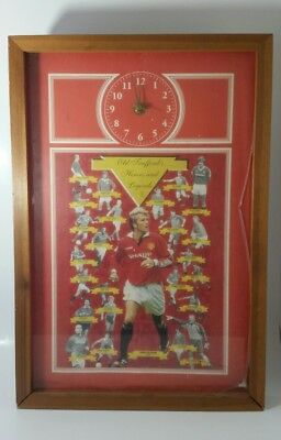 Old Trafford Manchester United Wall Clock Heroes & Legends Used