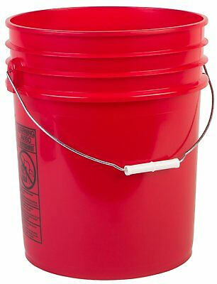 Hudson Exchange Premium 90 Mil HDPE Bucket with Handle, 5 gal, Red