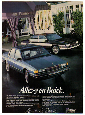 1989 BUICK Century & LeSabre Vintage Original Print AD - 4-door sedan car photo