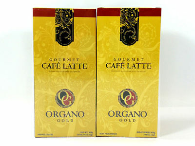 2 Boxes Organo Gold Cafe Latte Coffee 100% Organic Ganoderma Gourmet