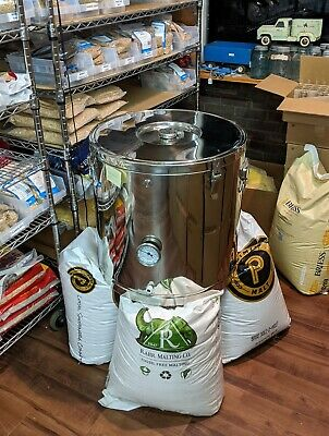 Mash Tun 20 Gal Fully Insulated Stainless Steel Dual Wall Chapman Thermobarrel
