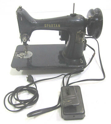 Vintage Singer Spartan Sewing Machine Electric Portable Tabletop Great Britain