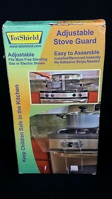 Totshield Adjustable Stove Guard Safety Baby Toddler New