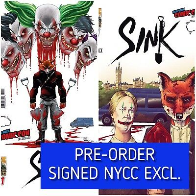 PRE-ORDER Sink #1 (2017 ComixTribe) NM+ NYCC Brain Trust Excl Signed Variant Set