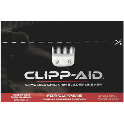 Clipp-Aid Hair / Pet Clipper Blade Sharpener Single Sachet for Standard Clippers